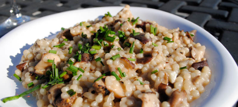 risotto fromage bleu champignons